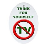 Think For Yourself Oval Ornament
