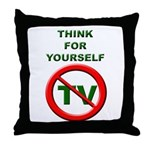 Think For Yourself Throw Pillow