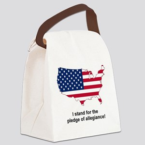 stand for pledge Canvas Lunch Bag