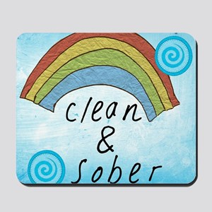 Clean and Sober Mousepad