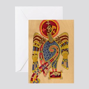 Book of Kells Eagle Greeting Cards