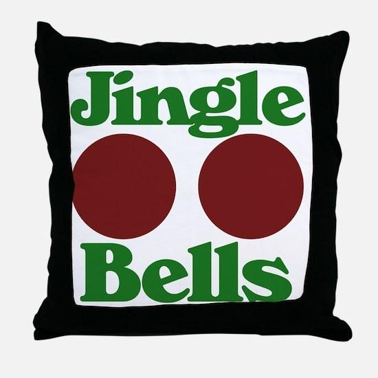 Jingle BOOBS Throw Pillow