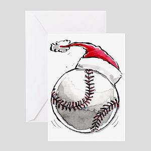 Xmasbaseball Greeting Card