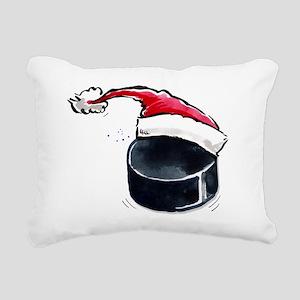 XmasHockey Rectangular Canvas Pillow