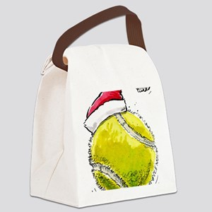 XmasTennis Canvas Lunch Bag