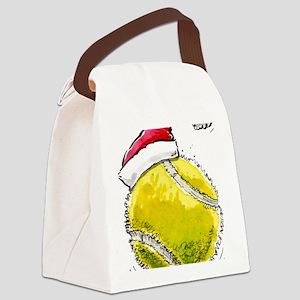 XmasTennis Canvas Lunch Bag