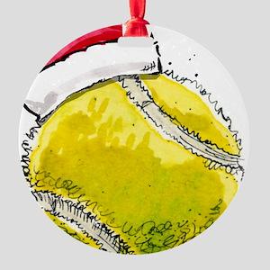 XmasTennis Round Ornament