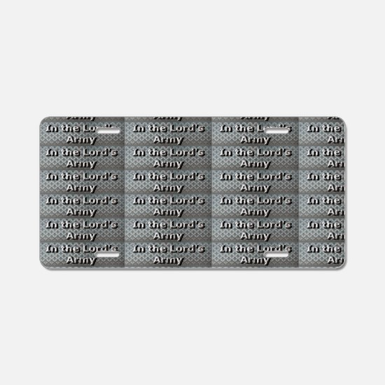 In the Lords Army metal jac Aluminum License Plate