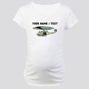 Custom Military Helicopter Maternity T-Shirt