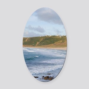 Southernmost tip of England Lands  Oval Car Magnet