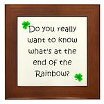 End of the Rainbow Framed Tile
