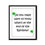 End of the Rainbow  Framed Panel Print