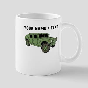 Custom Green Military Humvee Mugs