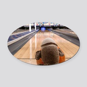 bowling Oval Car Magnet