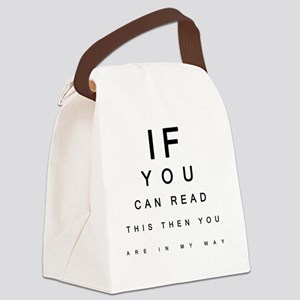 If you can Read This Canvas Lunch Bag