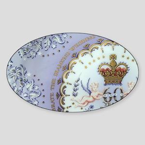 London. Commemorative souvenir plat Sticker (Oval)