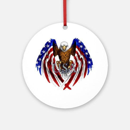 eagle2 Round Ornament