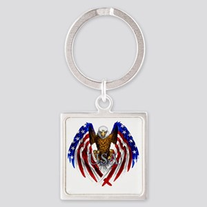 eagle2 Square Keychain