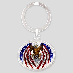 eagle2 Oval Keychain