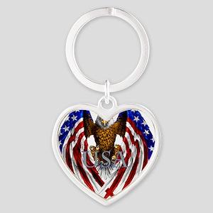 eagle2 Heart Keychain