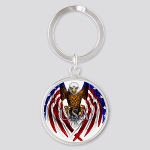 eagle2 Round Keychain