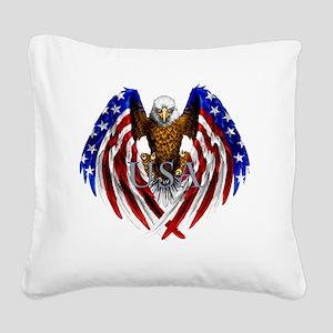 eagle2 Square Canvas Pillow
