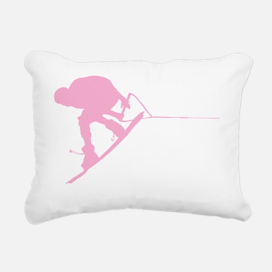 Pink Wakeboard Back Spin Rectangular Canvas Pillow