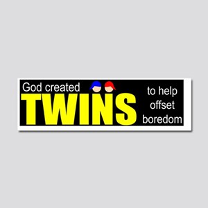Twins offset boredom Car Magnet 10 x 3