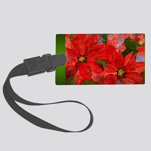 PoinsettiaLong Large Luggage Tag