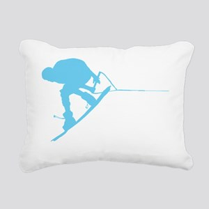 Wakeboard Back Spin 360 Rectangular Canvas Pillow