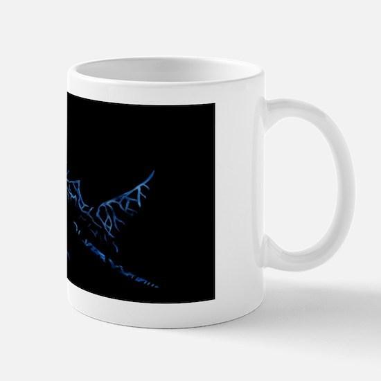 BullShark Blue Aluminum License Plate Mug