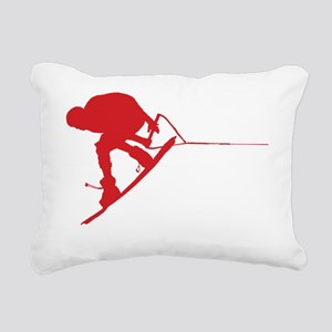 Red Wakeboard Back Spin  Rectangular Canvas Pillow