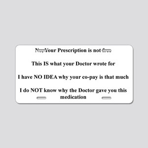 Pharmacy Aluminum License Plate