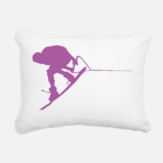Purple Wakeboard Back Sp Rectangular Canvas Pillow
