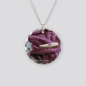 Purple Wrist Warmer Necklace Circle Charm