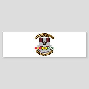 DUI - 67th Medical Group w SVC Ribbon Sticker (Bum