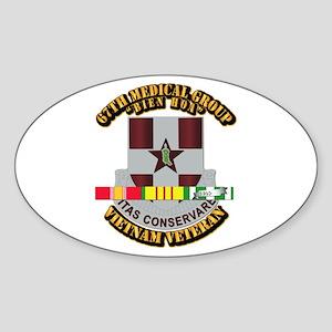 DUI - 67th Medical Group w SVC Ribbon Sticker (Ova