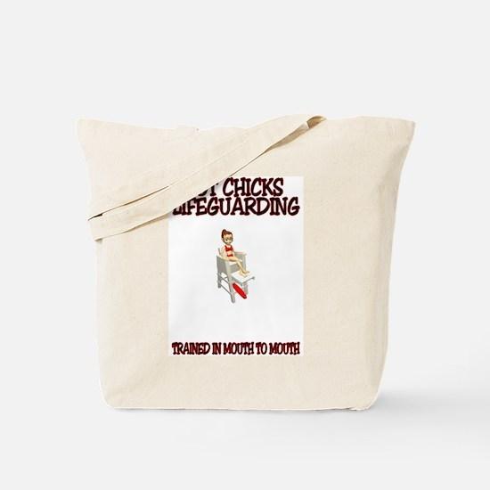 Cute Lifeguard funny Tote Bag