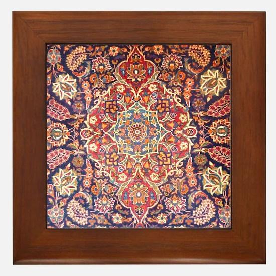 Handmade carpet Framed Tile