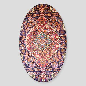 Handmade carpet Sticker (Oval)