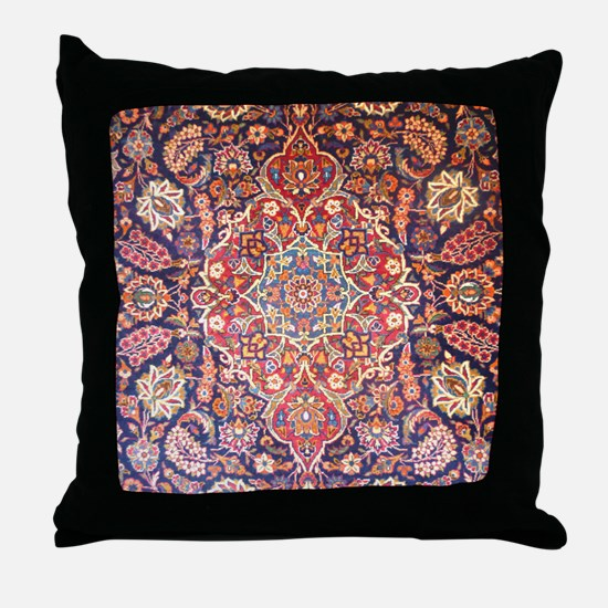 Handmade carpet Throw Pillow
