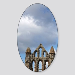 Whitby Abbey ruins (built circa 122 Sticker (Oval)