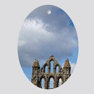 Whitby Abbey ruins (built circa 1220 Oval Ornament