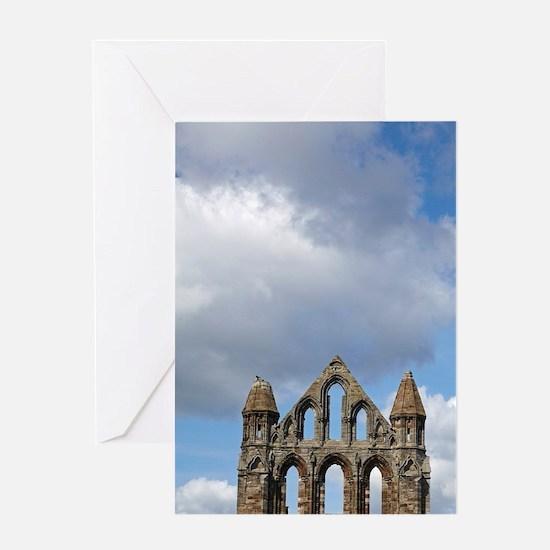 Whitby Abbey ruins (built circa 1220 Greeting Card