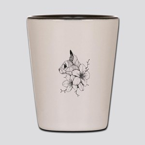 Sphynx Cat and Sakura Shot Glass