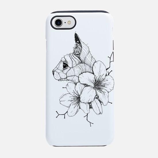 Sphynx Cat and Sakura iPhone 7 Tough Case