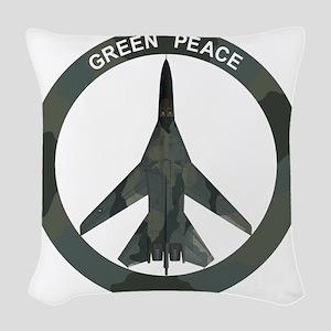 FB-111 Green Peace Woven Throw Pillow