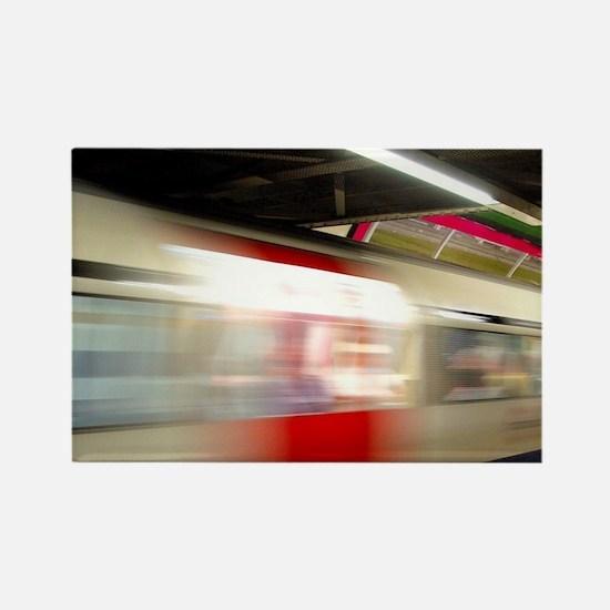 London. Underground train station Rectangle Magnet