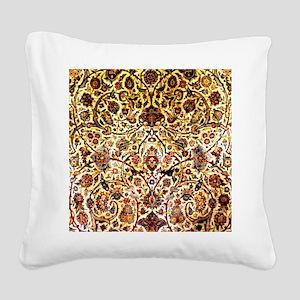 Persian silk carpet 2 v Square Canvas Pillow