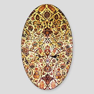Persian silk carpet 2 v Sticker (Oval)
